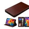 Insten Leather Fabric Case For Samsung Galaxy Tab4 Lte Version Brown