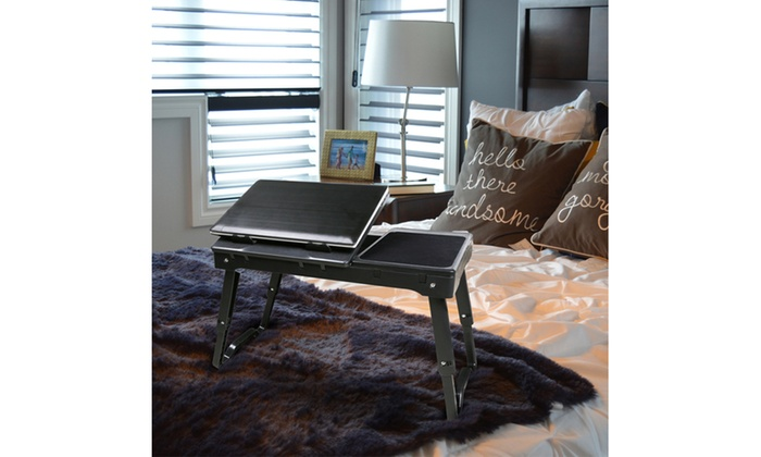 iMounTEK Laptop Table Stand with Built-In Cooling Fan and LED | Groupon