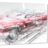 Red Low Rider Convertible Metal Wall Art 28x12