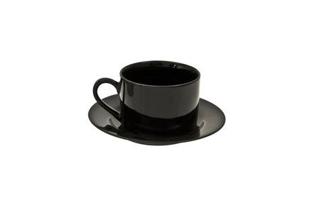 Ten Strawberry Street Black Rim - 6 Oz Cup And Saucer - Set of 6 c8d3ea41-1dc4-45da-bf6b-b076455e8758