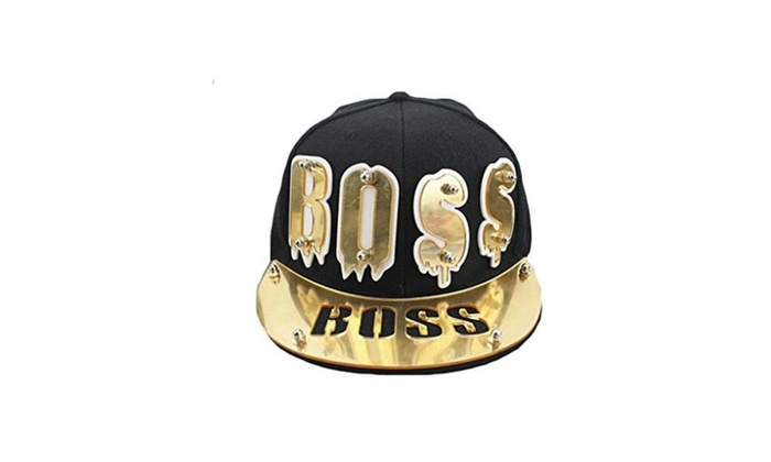 Men Women Hip Hop Acrylic Boss Adjustable Baseball Hat Cap Snapback - golden / Adjustable