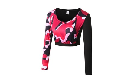 Women Activewear Top Long Sleeve Shirts Yoga Sports Workout Tight Tees 6506f349-57ed-4c84-9065-b838bab1fdf4