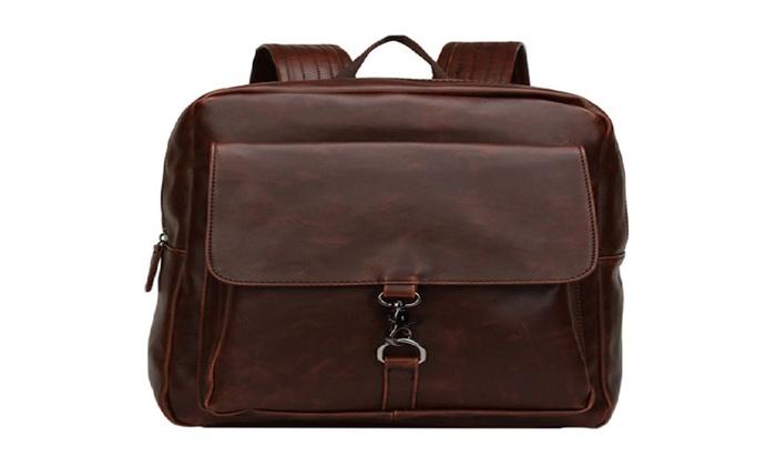 Men Backpack Shoulder Bag Fashion Sport Travel Bag Rawhide