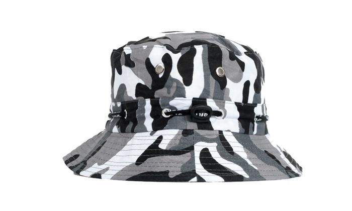 Unisex Cotton Bucket Hat Camouflage Round Fishing Hat