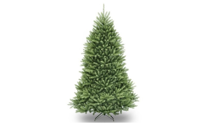 national tree unlit 7 dunhill fir hinged artificial christmas tree