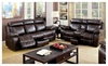Hollywood Decor: Vogar 2 Piece Living Room Set in Brown Leatherette
