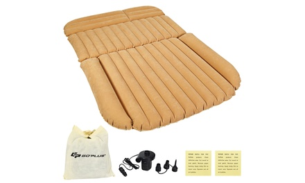 Inflatable SUV Air Backseat Mattress Flocking Travel Pad w/Pump Camping Travel