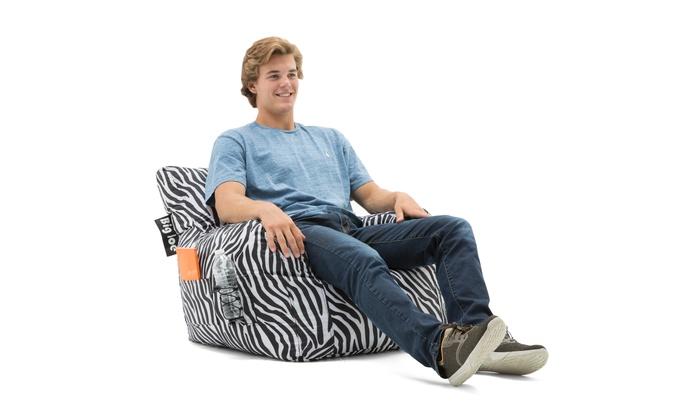 Wondrous Big Joe Bean Bag Chair Zebra 33 X 32 X 25 Gamerscity Chair Design For Home Gamerscityorg