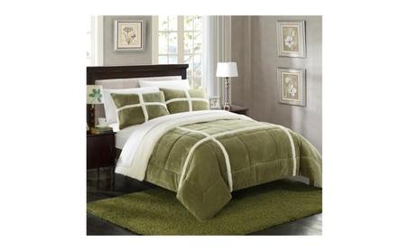 Chic Home CS2157-BIB-US 7 Piece Cindy Mink Sherpa King Comforter Set 1380e864-f512-4241-9504-705696d3f989