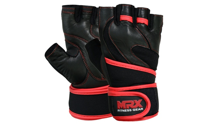 Leather Weight Lifting Gym Training Gloves Fitness Exercise