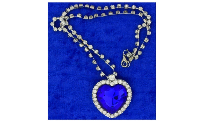 282058219 Heart Necklace or Keychain Deep Ocean Blue Color Movie Inspired ...