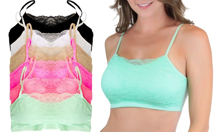 c872618895a Up To 52% Off on Padded Seamless Lace Cami Bra...