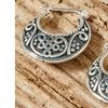 Handcrafted Solid Sterling Silver Hoop Earrings
