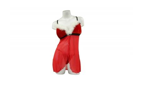 Women's Sexy 2 Piece Santa's Helper Lingerie Outfit Peek-a-boo Nightie db68a81f-cf4e-4fa9-a04c-10c63121a99c