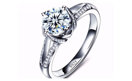 Luxury CZ Crystal Solitaire Chic White Gold Plated Ring e3a9daa2-f2d6-4c03-9a7b-2845daaf5d29