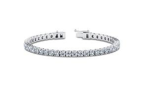 8.00 CTTW White Sapphire Tennis Bracelet