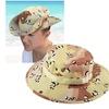 Zodaca Unisex Camouflage Bucket Hat  Sun Cap One Size - Brown/Black