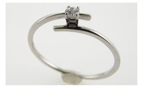 Genuine Diamond Engagement Ring Promise Ring 10kt White Gold Sizes 4 - 9