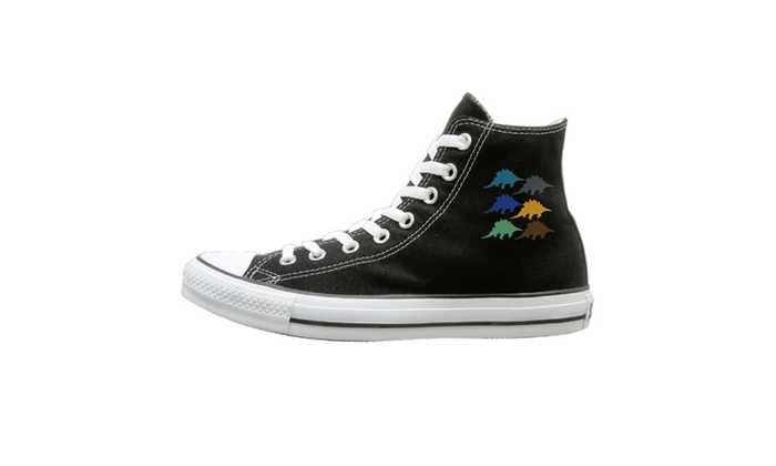 Stegosaurus Dinosaur Unisex High Top Canvas Shoes