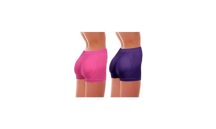 Natural Curves Enhanced Booty Shorts and Sports Bra Combo Pack