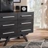 Auburn Mid-Century Modern Wood 6-Drawer Dresser