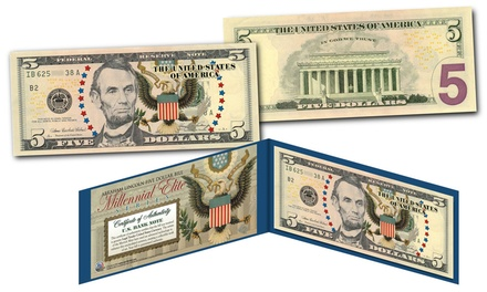 Millennial Elite Series Symbols of Freedom Legal Tender Currency