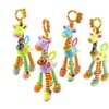 Baby Plush Soft Giraffe Animal Handbells Rattles Handle Toys