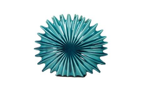 Ceramic Radial Seashell Sculpture Gloss Finish Blue d19eb2f8-8544-42b9-9861-a6c3e22d1d27