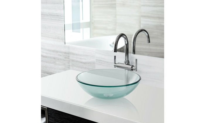 Up To 50 Off On Modern Glass Vessel Sink Ba Groupon Goods