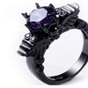 Men's Black Diamond Head Ring