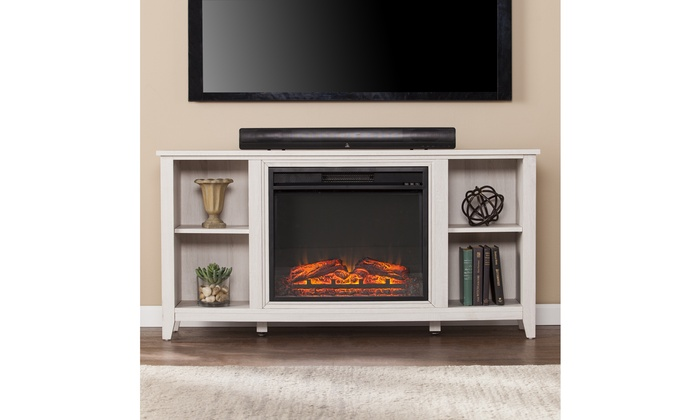 Parkdale Electric Fireplace Tv Stand White Groupon