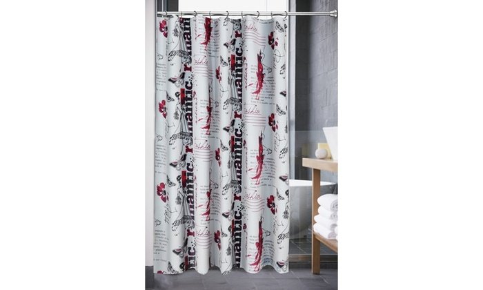 Romantic Shower Curtain 12 Hooks