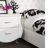 Erin Modern and Contemporary Faux-Leather Nightstand