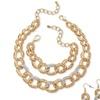 Necklace, Bracelet & Earrings Set Gold Tone