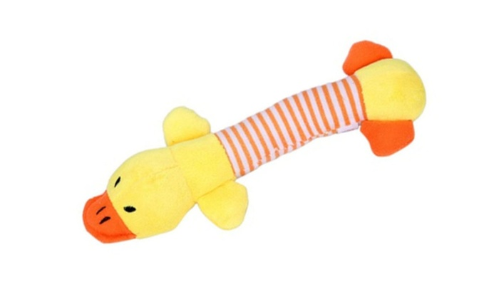 Pet Puppy Chew Squeaker Squeaky Plush Sound Pig Duck For Dog