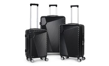 3-Piece Set HardShell 360 Spinner Luggage Set for Carry-On and Checked
