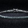 8.00 CTTW Aquamarine Cubic Zirconia Tennis Bracelet by Mina Bloom