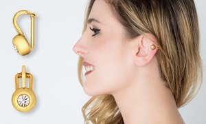 Clip & Slim 14kt Gold Plated Appetite Suppressant Ear Clip-On