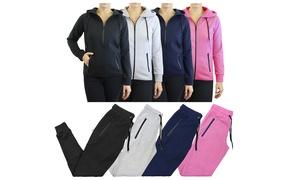 Women's Slim Fit Tech Fleece  Hoodie & Jogger Set