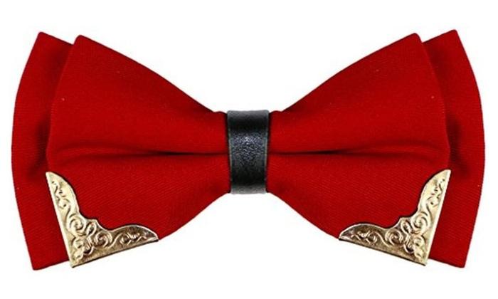 OCIA® Men's Boutique Bow Ties High-grade Bowtie Classic Color Metal Head
