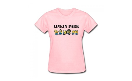 Linkin Park Minions Pink Weight T-shirt For Women 106617ad-3334-4ad3-9162-ead715978495