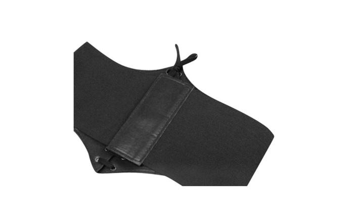 48e50703fe Leather Waist Belt Cincher Corset Black Wide Band Elastic Tied Waspie