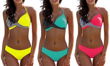 Bikini estilo bandeau con push-up