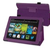 Insten Purple Stand Leather Case For Kindle Fire HD 7 2nd Gen 2013