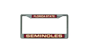 Florida State Seminoles License Plate Frame - Chrome - Laser Cut