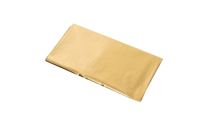 Gold Themed Party Supplies 4.5 x 9 Feet 6-Pack 54 x 108 Inch Shiny Plastic Tablecloth Fits up to 8-Foot Long Tables Juvale Gold Foil Tablecloth