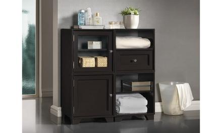Closeout: Alaska Dark Brown Modular Storage Cabinet