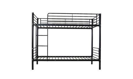 Bedroom Dorm Furniture Metal Over Bunk Bed Frame Ladder Twin Size