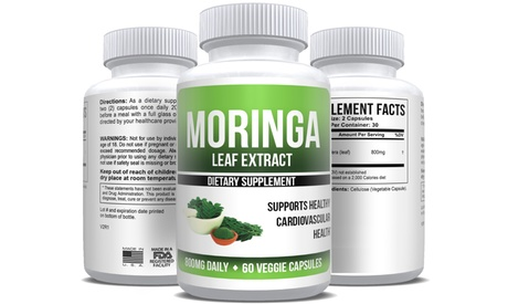 Pure Moringa Oleifera Leaf Extract Max Strength (1-, 2-, 3- or 6-pack)