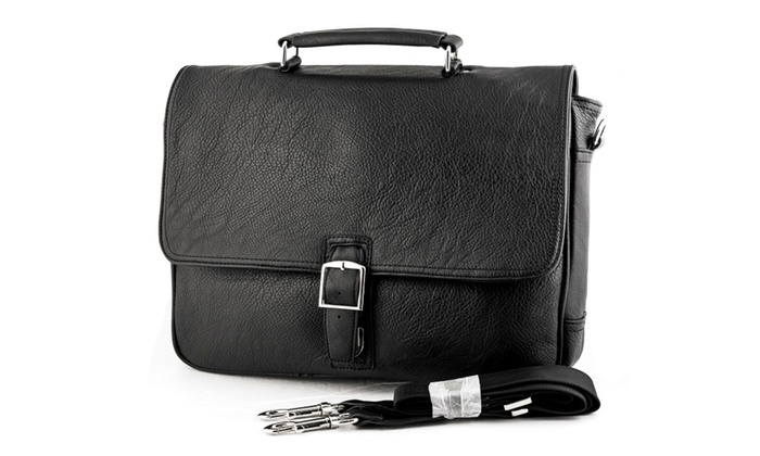 Soft Mens Laptop Business Briefcase Shoulder Messenger